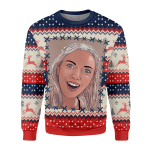 Merry Christmas Gearhomies Unisex Christmas Sweater Scarlett Johansson Surprised Meme 3D Apparel