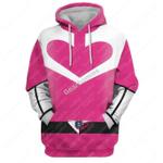 Gearhomies Unisex Tracksuit Hoodies Pullover Sweatshirt Pink PR Time Force 3D Apparel