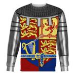 Gearhomies Unisex Sweatshirt Royal Coat of Arms of the United Kingdom (Queen Elizabeth II) 3D Apparel