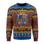 Merry Christmas Gearhomies Unisex Christmas Sweater Henry V 3D Apparel