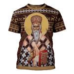 Gearhomies Unisex T-shirt St. Vasilije of Ostrog 3D Apparel