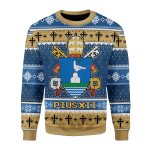 Merry Christmas Gearhomies Unisex Christmas Sweater Pius XII Coat Of Arms 3D Apparel