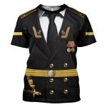 Gearhomies Unisex T-Shirt Soviet Naval Captain 3D Apparel