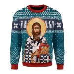 Merry Christmas Gearhomies Unisex Christmas Sweater St. Sava 3D Apparel