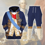 Gearhomies Tracksuit Hoodies Pullover Sweatshirt Louis XV of France Historical 3D Apparel