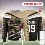 Gearhomies Personalized Unisex Sweatshirt New Orleans Saints Football Team 3D Apparel