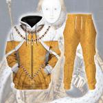 Gearhomies Tracksuit Hoodies Pullover Sweatshirt Queen Elizabeth I Historical 3D Apparel