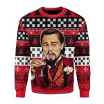 Merry Christmas Gearhomies Unisex Christmas Sweater Laughing Leo Meme 3D Apparel