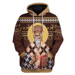 Gearhomies Unisex Hoodie St. Vasilije of Ostrog 3D Apparel