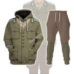 Gearhomies Tracksuit Hoodies Pullover Sweatshirt Wehrmacht Heer Afrikakorps Historical 3D Apparel