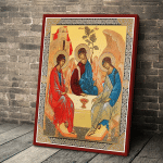 Gearhomies Canvas Religious Gifts Russian Orthodox Holy Trinity