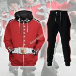 Gearhomies Tracksuit Hoodies Pullover Sweatshirt The Queen Guards United Kingdom Historical 3D Apparel