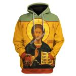 Gearhomies Unisex Hoodie Orthodox Jesus 3D Apparel