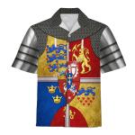 Gearhomies Unisex Hawaiian Shirt Royal Arms of Scotland Historical 3D Apparel