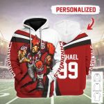 Gearhomies Personalized Unisex Tracksuit Hoodies Arizona Cardinals Football Team 3D Apparel