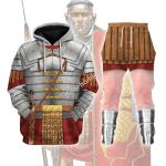 Gearhomies Tracksuit Hoodies Pullover Sweatshirt Roman Empire Soldier Historical 3D Apparel