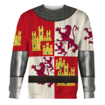 Gearhomies Unisex Sweatshirt Castile And Leon Armor 3D Apparel