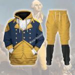 Gearhomies Tracksuit Hoodies Pullover Sweatshirt General George Washington Historical 3D Apparel