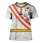 Gearhomies Unisex T-Shirt Emperor Franz Joseph I 3D Apparel