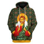 Gearhomies Unisex Tops Pullover Sweatshirt Orthodox Jesus Christ 3D Apparel