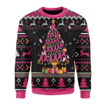 Merry Christmas Gearhomies Unisex Christmas Sweater Breast Cancer Awareness 3D Apparel