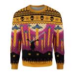 Gearhomies Unisex Christmas Sweater Aliens Take Me Away UFO 3D Apparel