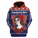Gearhomies Personalized Name Hoodie September Girl Hated By Many Loved By Plenty Heart On Her Sleeve Fire In Her Soul 3D Apparel