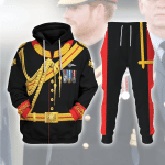 Gearhomies Tracksuit Hoodies Pullover Sweatshirt Prince Harry Historical 3D Apparel