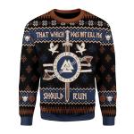 Merry Christmas Gearhomies Unisex Christmas Sweater Not Kill Me Should Run Viking Mythology