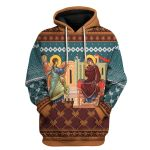 Gearhomies Unisex Hoodie Annunciation of the Mother of God 3D Apparel