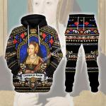 Gearhomies Tracksuit Hoodies Pullover Sweatshirt Catherine of Aragon Historical 3D Apparel