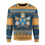 Merry Christmas Gearhomies Unisex Christmas Sweater Pope Urban VIII -  Maffeo Barberini (1623-1644) - The Bee Pope 3D Apparel