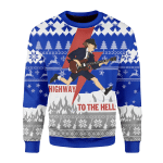 Merry Christmas Gearhomies Unisex Christmas Sweater Highway To The Hell