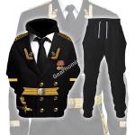 Gearhomies Tracksuit Hoodies Pullover Sweatshirt  Soviet Naval Captain Historical 3D Apparel