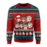 Merry Christmas Gearhomies Unisex Christmas Sweater BTS Band Ugly Christmas