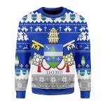 Merry Christmas Gearhomies Unisex Christmas Sweater Pope Leo XIII Coat Of Arms 3D Apparel