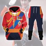 Gearhomies Tracksuit Hoodies Pullover Sweatshirt Elizabeth II of England Historical 3D Apparel