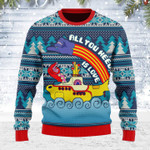 Merry Christmas Gearhomies Unisex Ugly Christmas Sweater All You Need Is Love 3D Apparel
