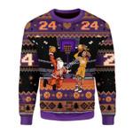 Merry Christmas Gearhomies Unisex Christmas Sweater Kobe Bryan Santa Ugly Christmas 3D Apparel