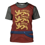 Gearhomies Unisex T-Shirt English Knight 3D Apparel