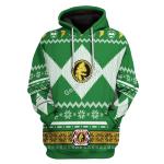 Gearhomies Unisex Tracksuit Hoodies Pullover Sweatshirt Green Power Rangers 3D Apparel