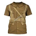 Gearhomies Unisex T-Shirt World War I British Soldiers 3D Apparel