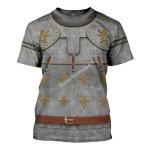 Gearhomies Unisex T-Shirt Medieval Suit of Armor 3D Apparel