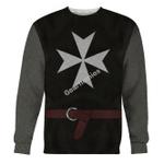 Gearhomies Unisex Sweatshirt Knight Hospitaller 3D Apparel