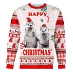 Merry Christmas Gearhomies Unisex Christmas Sweater Couple Ugly Christmas