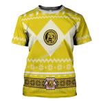 Gearhomies Yellow Power Rangers T-Shirt
