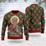 Merry Christmas Gearhomies Unisex Ugly Christmas Sweater Andrew the Apostle 3D Apparel