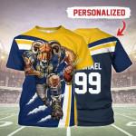 Gearhomies Personalized Unisex T-Shirt Los Angeles Rams Football Team 3D Apparel