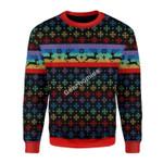 Merry Christmas Gearhomies Unisex Christmas Sweater LGBTQ+ Flag