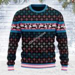 Merry Christmas Gearhomies Unisex Ugly Christmas Sweater Transgender Pride Flag 3D Apparel